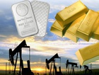 gold, silver and crude oil